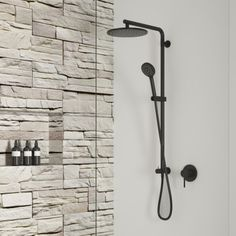 Elementi Splash Plus Column Shower | Robertson Bathware Ideal Bathrooms, Furniture Vanity, Kitchen Mixer, Modern Shower, Kitchen Themes, Shower Enclosure, Edge Design, Shower Heads, Chrome Finish