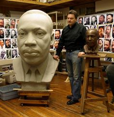"Zenos Frudakis: Public Monuments, Portrait Busts and Statues, internationally recognized sculptor of the ""Freedom"" sculpture. Freedom Sculpture, Horse Sculpture, Sculpture Clay, Sculpture Portrait, Sculpture Ideas, Sculpture Techniques, Art Techniques, Martin Luther King, Javier Marin"
