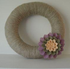 Dahlia Yarn Wreath