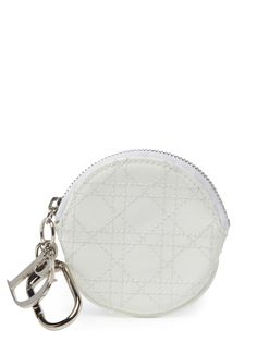 Christian Dior White Cannage Quilted Patent Leather Key Pouch at Gilt saved by #ShoppingIS