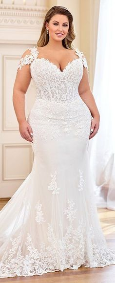 Plus Size Wedding Dress Mon Cheri Bridal offers wedding dress collections from designers like Martin Thornburg, Sophia Tolli, & more. Find your perfect plus size wedding dress! Plus Size Wedding Gowns, Sexy Wedding Dresses, Princess Wedding Dresses, Wedding Attire, Bridal Dresses, Lace Wedding, Mermaid Wedding, Gown Wedding, Wedding Dresses For Curvy Women