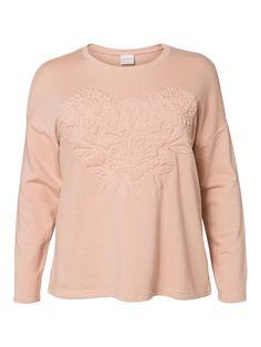 Embossed plus size pastel sweat from JUNAROSE #junarose #plussize #sweatshirt