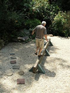 Never too old to play Outdoor Projects, Garden Projects, Garden Ideas, Outdoor Play, Outdoor Living, Outdoor Spaces, Garden Fencing, Fenced Garden, Never Too Old