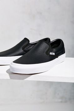 d447d954ac4cd Vans Perforated Leather Slip-On Sneaker - Urban Outfitters