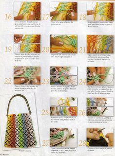 macramé rainbow bag