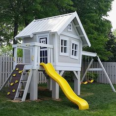 Yep!  Another shot.  This Explorer's Treehouse is just pristine.  The sharp, beautiful color scheme looks classy AND fun. www.imaginethatplayhouses.com  #treehouse #playhouses #backyardlife #urbanplayground #childhood #imaginethatplayhouses