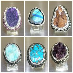 #Amazing  #unique #statement ✨ #gemstone #rings  in #different #shapes and #colors  that will #suit your #style