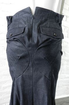 Vintage and Designer Skirts - For Sale at Pencil Skirt Work, Fashion Details, Fashion Design, Junya Watanabe, Comme Des Garcons, Deconstruction, Denim Outfit, Fashion Story, Undercover