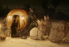 the pumpkin coach drawn by six white rabbits Beatrix Potter, Dear Dad, Storybook Cottage, White Rabbits, Funny Bunnies, Period Costumes, Love Movie, Conte, Childrens Books