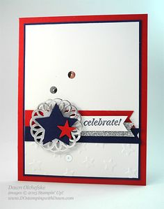 Metallic Doily Patriotic Card by dostamping - Cards and Paper Crafts at Splitcoaststampers Military Cards, Military Quotes, American Card, Star Cards, Retirement Cards, Patriotic Crafts, Stamping Up Cards, Handmade Birthday Cards, Card Sketches