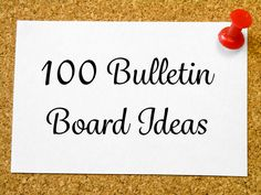 100 creative bulletin board ideas to bring inspiration to your classroom or school hallway, cafeteria or gym.