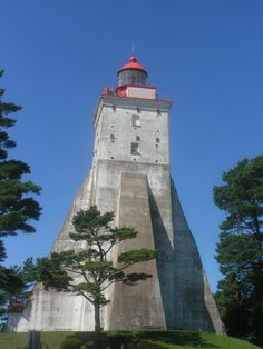 Kõpu Lighthouse on the isle of Hiiumaa, Estonia.