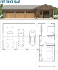 Garage plans, Home Plans, House Desins Garage Apartment Floor Plans, Garage Floor Plans, Garage Apartments, New House Plans, Dream House Plans, Small House Plans, Garage House, Garage Blueprints, Garage To Living Space