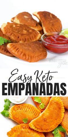 Free Keto Recipes, Cheesy Recipes, Real Food Recipes, Healthy Recipes, Recipe With 10 Ingredients, Empanada Dough, Comida Keto, Empanadas Recipe, Keto Food List