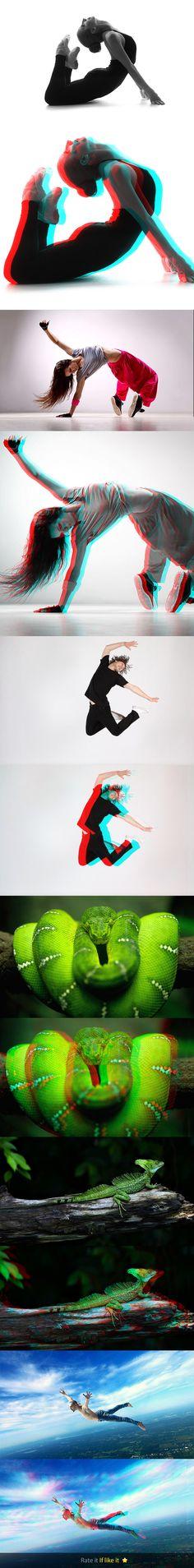 3D Photoshop Actions #photoeffect Download: http://graphicriver.net/item/3d-photoshop-actions/10576098?ref=ksioks