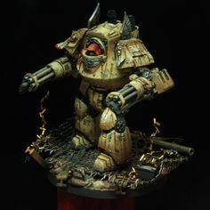 40k - Deathwing Mortis Contemptor Dreadnought by Alessandro Manilii