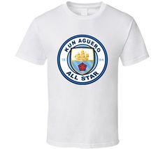 Sergio Kun Aguero All Star Manchester City Football Club Fan T Shirt Kun Aguero, Shirt Price, Manchester City, All Star, Shirt Style, Cool Designs, Soccer, One Piece, Football