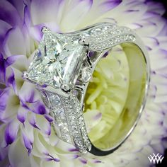 Princess Cut Diamond Engagement Ring! Fit for a queen!