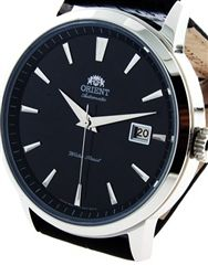 • $99 • 41mm • Orient Symphony Automatic Dress Watch with Black Dial, Stainless Steel Case #ER27006B