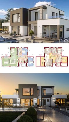 Small Modern House Plans, House Plans Mansion, Best Modern House Design, Modern Exterior House Designs, Sims House Plans, Modern Minimalist House, Beautiful House Plans, Latest House Designs, Dream House Exterior