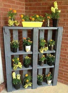 Rangement pots de fleurs idée