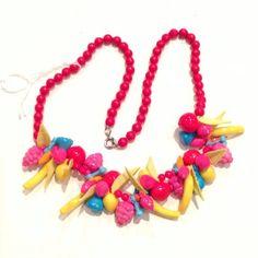 Vintage 1960s Fruity Plastic Necklace