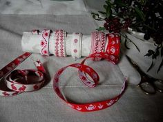 recycle a cardboard tube into storage for ribbons