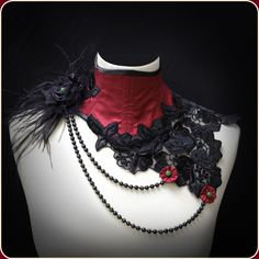 Neck Corset with Pearls