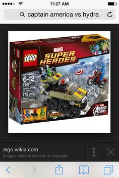 Superhero sets: we were super excited about getting red skull
