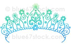 Hand-Drawn Sketchy Princess Tiara Crown Doodle Drawing Vector Illustration by blue67stock.com | Flickr - Photo Sharing!