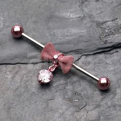 Pink Colorline Adorable Mesh Bow-Tie Industrial by BM25Jewelry