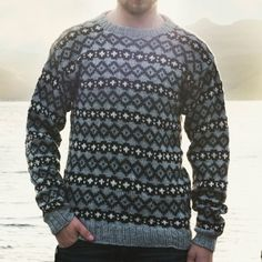 Navia Herresweater med mønster, model 2-NB20 Knitting Patterns, Crochet Patterns, Men Sweater, Pullover, Sweaters, Fair Isles, Clothes, Vests, Crafty