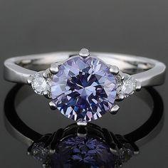 RB1095EBL 18KGP Round Cut Tanzanite Cubic Zirconia Custom Jewelry Fashion Ring US $2.99