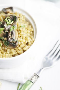 Couscous with Mushrooms and Herbs