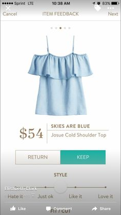Skies are blue cold shoulder top - really want this top. LOVE it! Perfect for summer!!