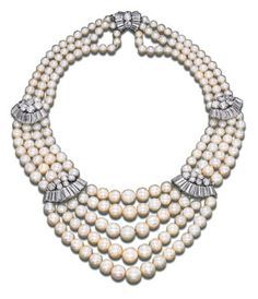 Image result for cartier pearl necklace