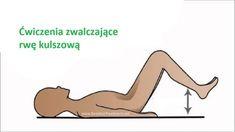 Ćwiczenie stories and pictures at krokdozdrowia. Piriformis Syndrome, Sciatica Pain, Reflexology, Total Body, Healthy Tips, Fitness Inspiration, Health Fitness, Yoga, Workout