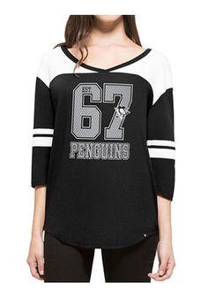47 Pittsburgh Penguins Womens Black Rush T-Shirt Pittsburgh Penguins Gear 6ca37da83