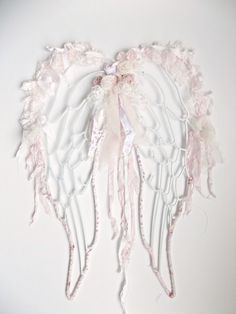 Shabby Chic Angel Wings Lace Angel Wings French by ProvencalMarket