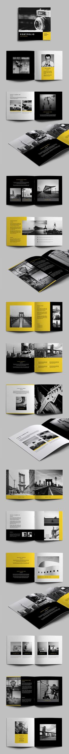 Simple Minimal Portfolio. Download here: http://graphicriver.net/item/simple-minimal-portfolio/11455547?ref=abradesign #portfolio #brochure #design: