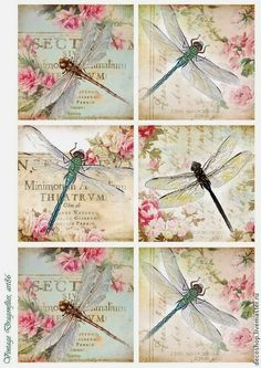 Decoupage these ideasto tiles. Glue felt to back of tile. You have costers. Make larger and on larger tile you have hot plates! Vintage Labels, Vintage Ephemera, Vintage Cards, Vintage Paper, Vintage Clocks, Images Vintage, French Vintage, Vintage Retro, Dragonfly Art