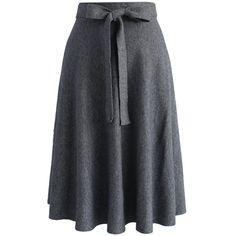 Chicwish Tie the Warmth Soft Knit Midi Skirt in Grey ($42) ❤ liked on Polyvore featuring skirts, grey, tie-dye skirt, midi skirt, pleated skirt, grey midi skirt and knee length pleated skirt