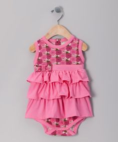 Pink Poppy Organic Tiered Bodysuit  by violet + moss Girls on #zulily today!
