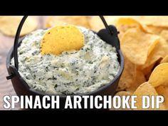 Spinach and Artichoke Dip Recipe Spinach Artichoke Dip, Spinach Dip, Appetizers For Party, Appetizer Dips, Appetizer Recipes, Snaks, Dip Recipes, Snack Recipes, Loaded Potato