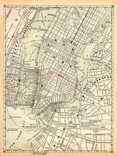 New york city map 1944 new york city manhattan street map vintage 1891 antique new york city map reproduction print of manhattan map collector gift for traveler birthday malvernweather Gallery