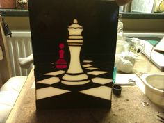 Chess piece without frame