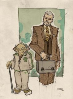 Star Wars 80s High School Movie Re-Design: Yoda and Kenobi
