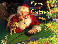 Merry Christmas - Санта от Tom Newsom - Поздравительные открытки на все случаи жизни! - Bagima
