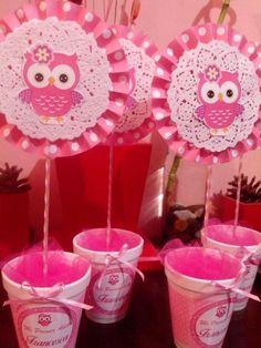 Baby shower centros de mesa buho Ideas for 2019 Baby Shower Cake Pops, Baby Shower Balloons, Baby Shower Parties, Baby Shower Themes, Owl Parties, Birthday Parties, Owl 1st Birthdays, Baby Girl Owl, Tissue Paper Flowers