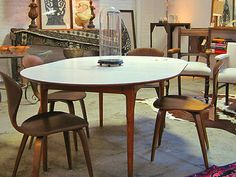 Mid Century Modern Walter Of Wabash White Laminate Dining Table Best Laminate Dining Room Tables Review